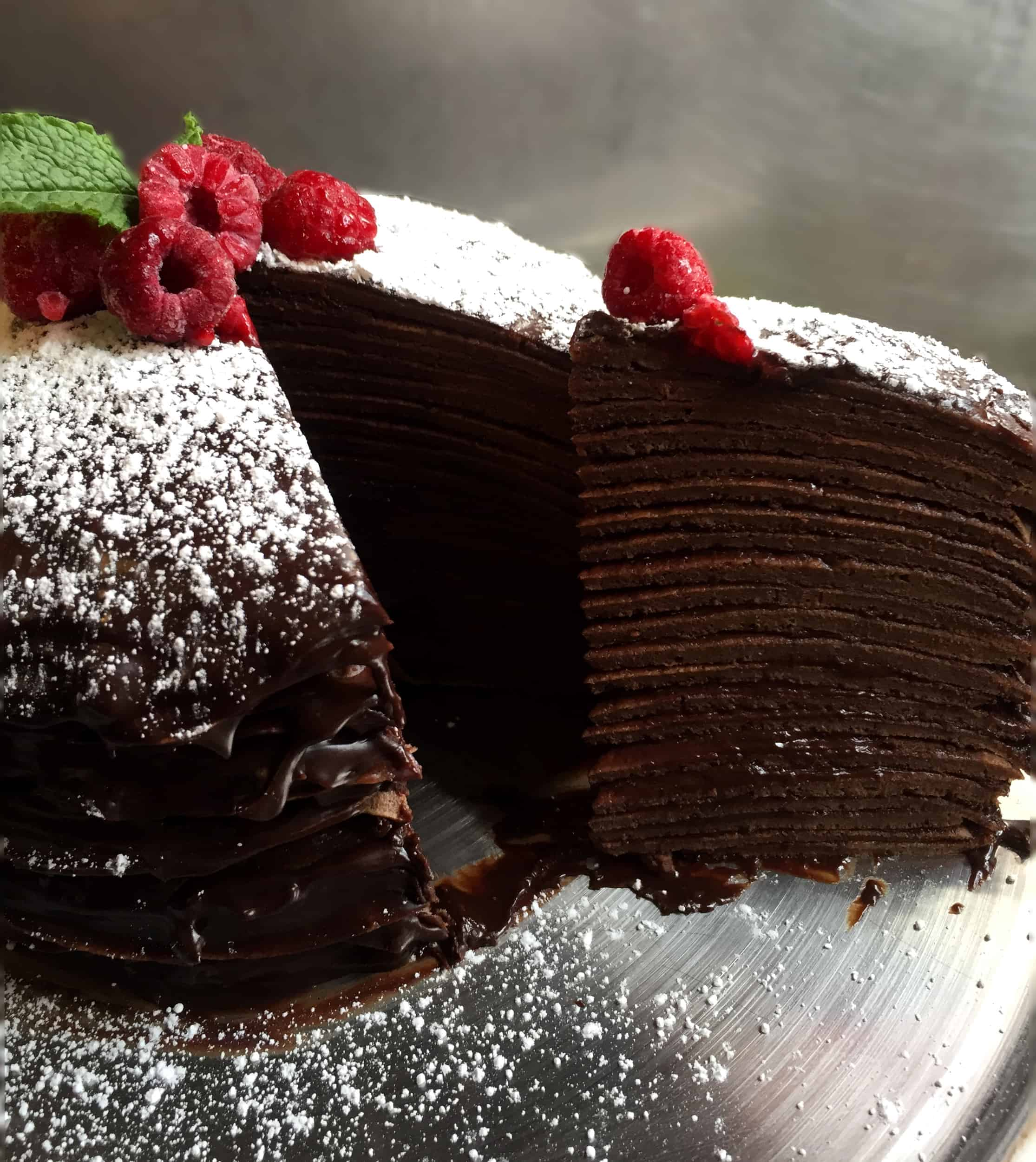 Chocolate Crepe Cake Flypeachpie